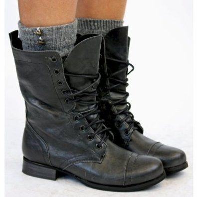 Womens Lace Up Ankle Military Worker Boots Size 3-8 with shoeFashionista Boutique Bag: Amazon.co.uk: Shoes & Bags