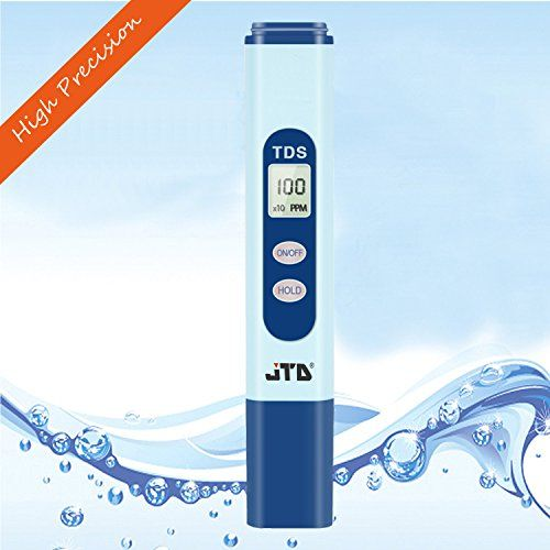 Best price on JTD ® Digital Handheld TDS Meter, Total Dissolved Solids Tester, Water Quality Testing Monitor, 0-9990 ppm, 1 ppm Resolution, +/- 2% High Accuracy (Blue) (TDS tester)  See details here: http://bestgardenreport.com/product/jtd-digital-handheld-tds-meter-total-dissolved-solids-tester-water-quality-testing-monitor-0-9990-ppm-1-ppm-resolution-2-high-accuracy-blue-tds-tester/    Truly the best deal for the reasonably priced JTD ® Digital Handheld TDS Meter, Total Dissolved Solids…