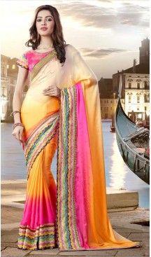 Deep Pink Color Georgette Party Wear Saris Blouse | FH529980073 #traditional #ethnic #ootd #fashion #makeup #mua #hair #lehenga #saree #sari #jewellery #jewelry #asian #asia #wedding #weddingphotography #asianwedding #asianbride #bridal #bride #weddingbells, #love #fashion #india #wedding #floral #sari #desi #blouse #bollywood #weddings #couture #style #dress #editorial #designer #punjabisuit #makeup #sisters #satin #indianbride #beautiful #bride @heenastyle