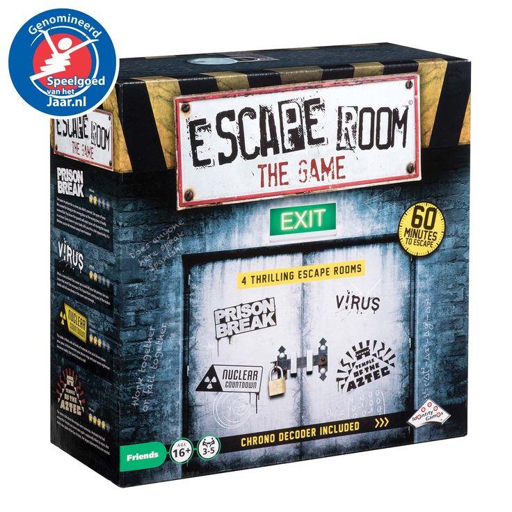 Escape Room The Game: beleef nu de spanning van een escape room als spel, gewoon bij jou thuis! In dit uitdagende en onvoorspelbare bordspel los je samen een mysterie op door te zoeken naar verborgen aanwijzingen en het oplossen van raadsels. Je hebt hiervoor slechts 1 uur de tijd, gebruik die tijd goed! De Chrono Decoder telt af van 60 naar 0, zorgt voor de benodigde sfeer en geeft af en toe cryptische aanwijzingen. Hebben jullie binnen 60 minuten de juiste code gevonden om bijvoorbeeld te…