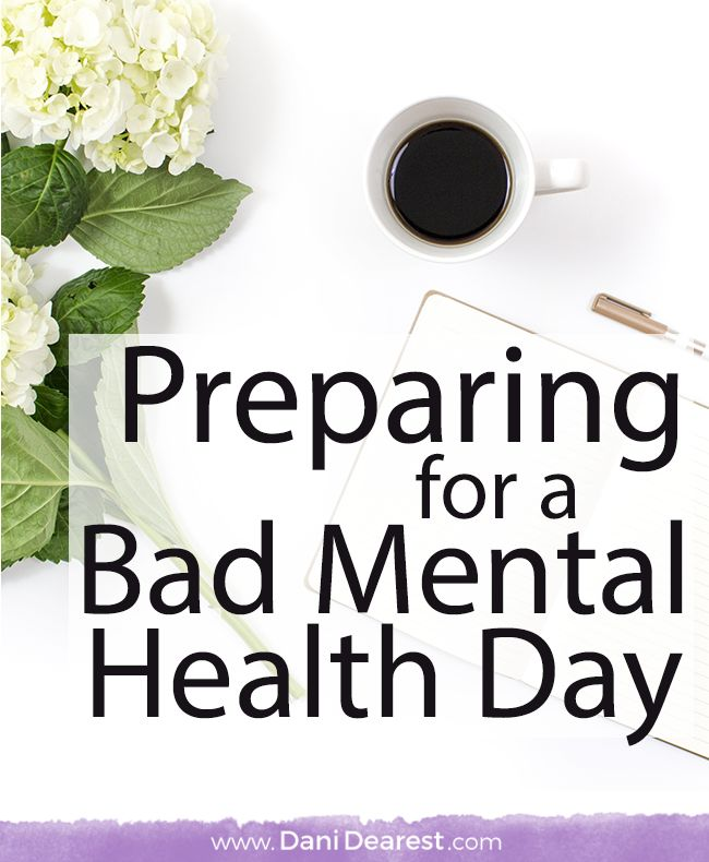 Tips and tricks for how to prepare for a bad mental health day while you're having a good one. Take control of your mental health and the roller coaster that comes with it.