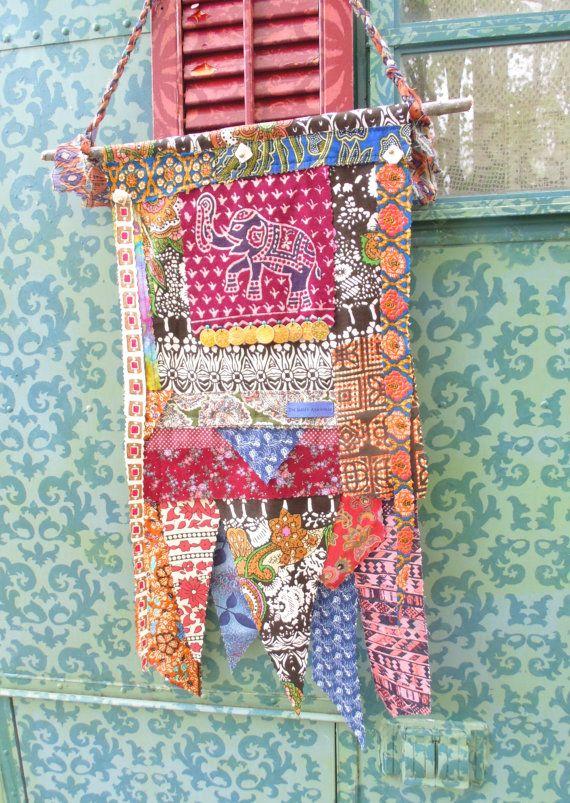 Bohemian PEACE flag-etsy TheSleepyArmadillo www.thesleepyarmadillo.com