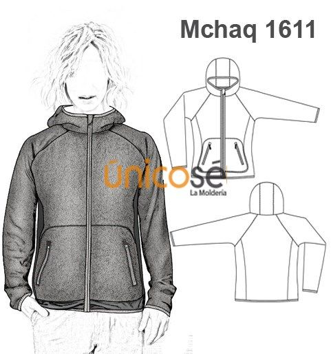 MOLDES CHAQUETA CAMPERA SPORT MUJER
