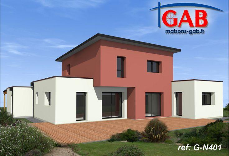 Maison contemporaine tage gab constructeur de maisons for Constructeur maison moderne bretagne