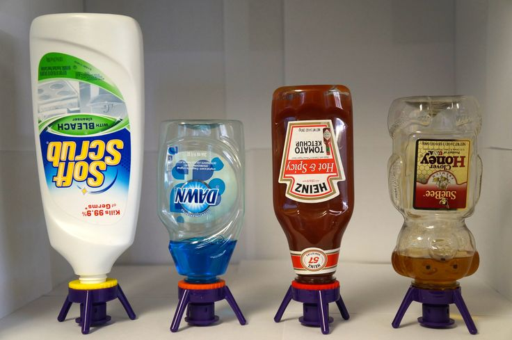 This is such a GREAT invention! No more balancing your shampoo bottle in the shower or leaning the ketchup on the sink. Flip-it Cap lets you get the very last drop in any bottle.