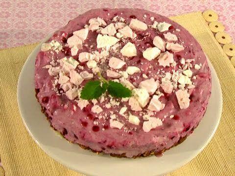 Rezept: Crèmetorte -- Blaubeer-Crème-Torte mit Schokopuffreis-Boden - YouTube