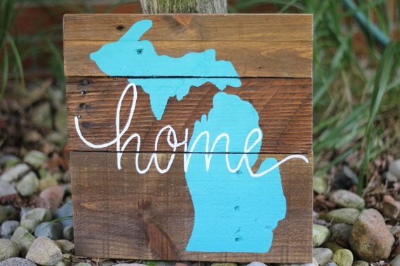 State of Michigan Home Wood Sign by 2ShiningStars on Etsy