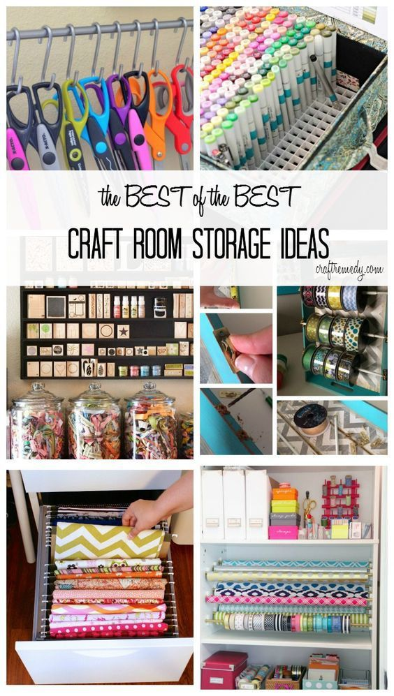 More Fantastic Craft Room Storage & Organization Ideas