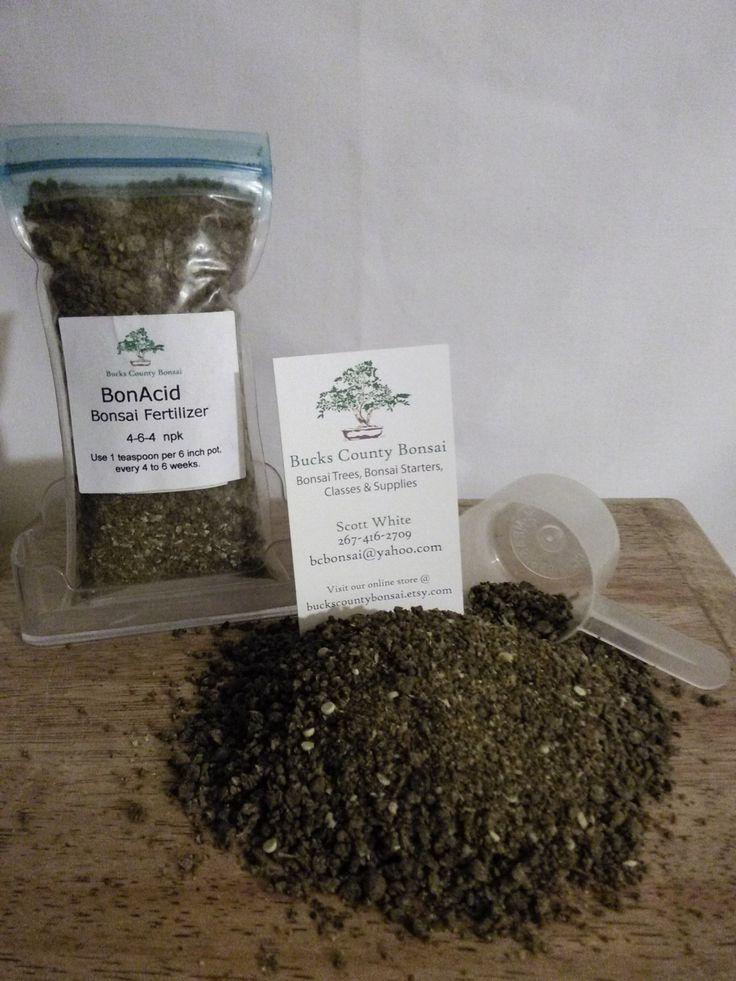 8 oz. Bonsai Fertilizer, BonAcid, Bonsai Fertilizer, Slow Release Fertilizer by BucksCountyBonsai on Etsy