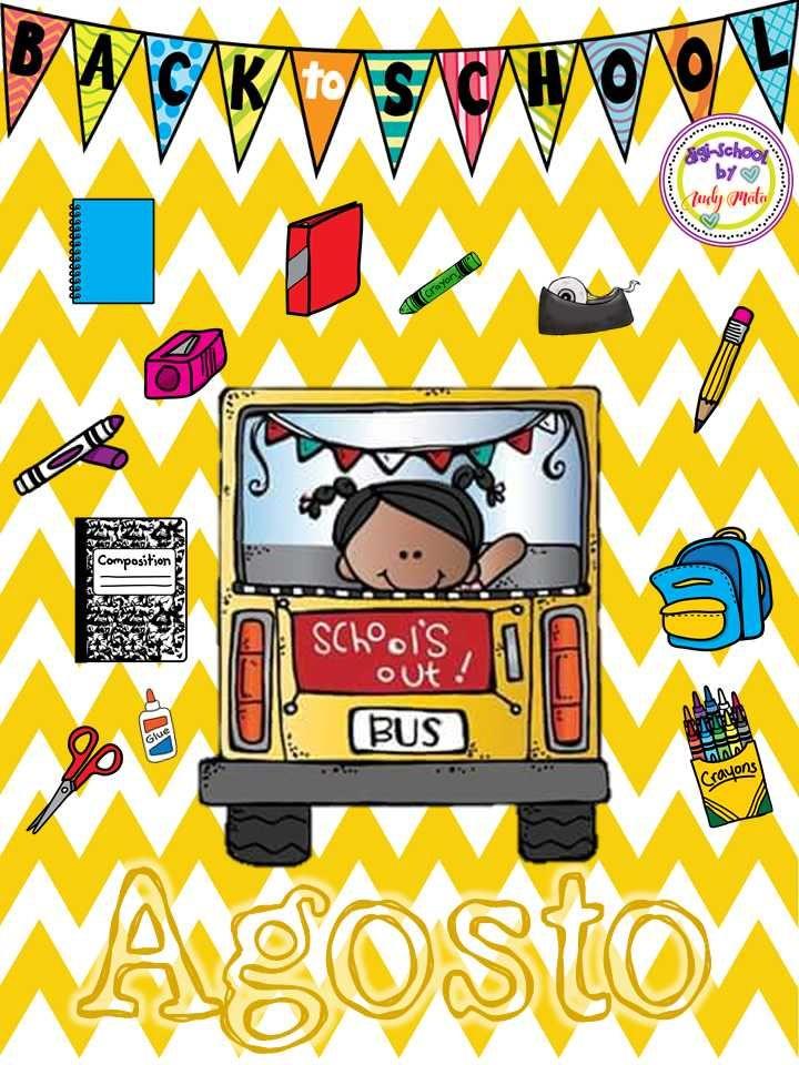 Cubierta O Portada Para Carpeta O Cuaderno Mes De Agosto Calendario Preescolar Material Educativo Cubiertas Para Carpetas