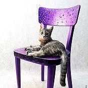 Для дома и интерьера ручной работы. Ярмарка Мастеров - ручная работа Cтул ретро фиолетовый. Handmade.