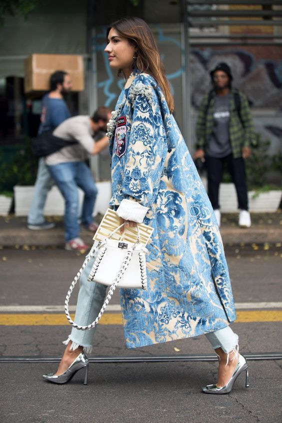 Make an entrance with a fabulous printed coat.
