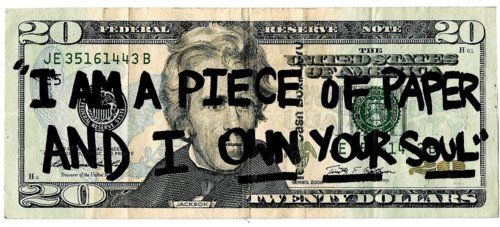 And I bet you this person wrote this on a piece of mylar on TOP of the bill...