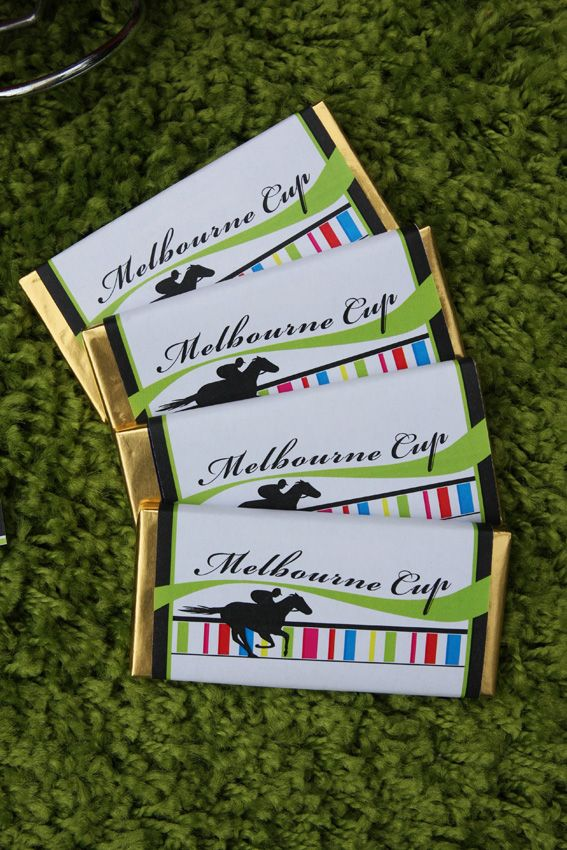 Melbourne Cup party printables - Chocolate wrappers