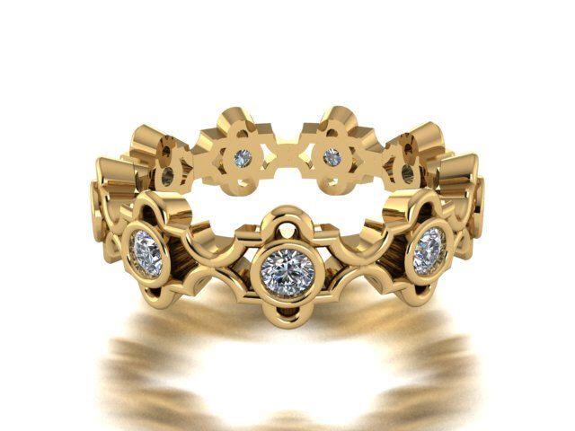 Bridal Rings, Wedding Bands, Engagement Ring, Diamond Wedding Eternity Band, Modern Elegant Engagement Ring by BridalRings on Etsy https://www.etsy.com/listing/242357304/bridal-rings-wedding-bands-engagement