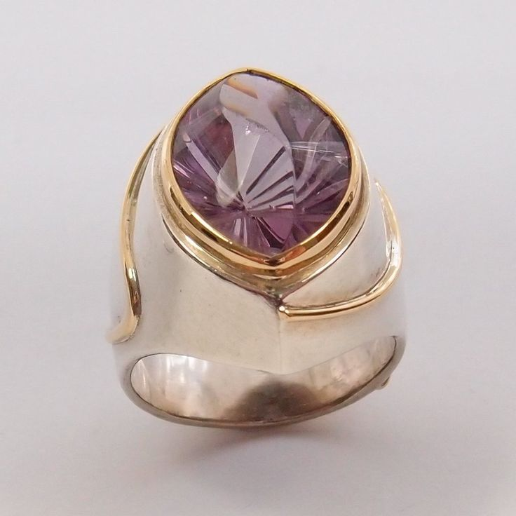 Amethyst Ring in Sterling Silver and Gold by Tony Williams: Pre-Adored
