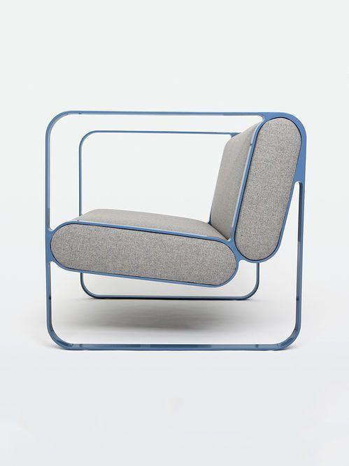 Details we like / Sofa / metal Frame / Blue / at LOOK AT STUFF
