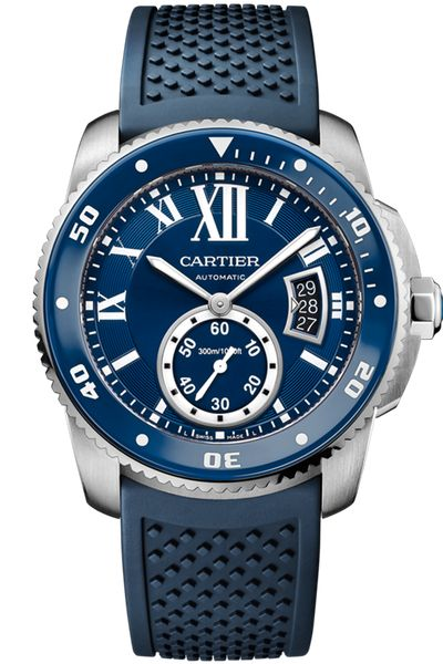 Cartier Calibre de Cartier Diver Blue Watch (WSCA0011)