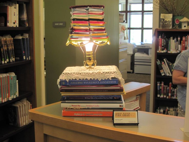 Repurposed Book Lamp Created By Our Very Talented Tina Brown! The Shade Was  Made From