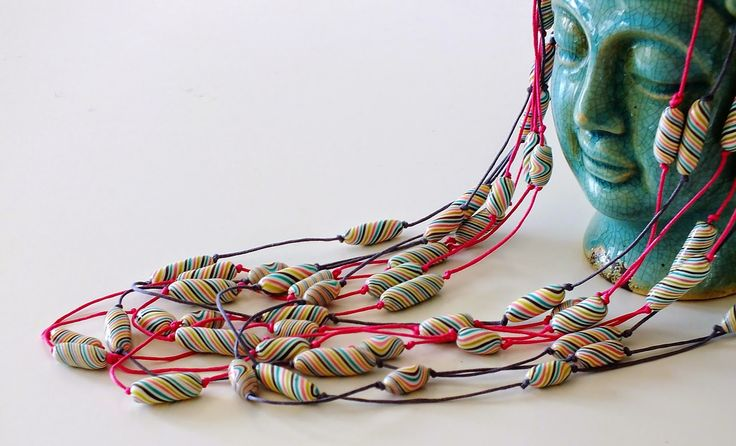 Basic polymer clay beads tutorial blogged for Craftliners by Lillian de Vries @theClayground