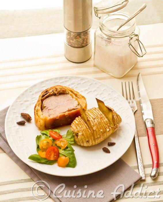 Filet mignon en croûte au foie gras et morilles