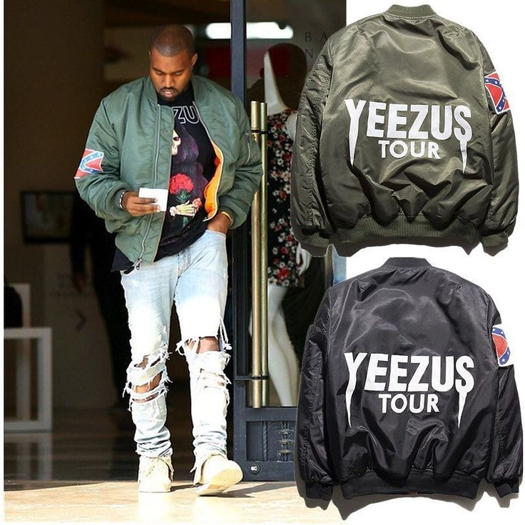 YEEZUS TOUR BOMBER JACKET  M - XXL Black / Olive green Fast pre order!  Line : sneakyer  by sneakyer