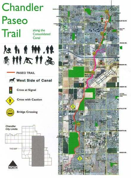 Paseo Trail Map great place to run - Chandler AZ  Chandler Women's Fun Runs (Chandler, AZ)