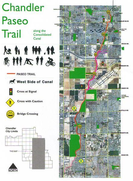 Paseo Trail Map great place to run - Chandler AZ  Chandler Women's Fun Runs (Chandler, AZ)
