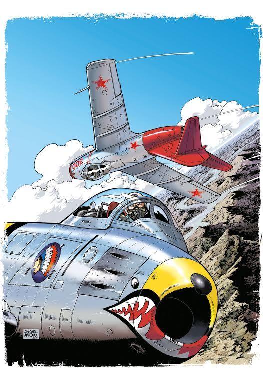Prochain Buck Danny, la couverture de Duel sur Mig Alley - http://www.ligneclaire.info/mig-alley-16921.html