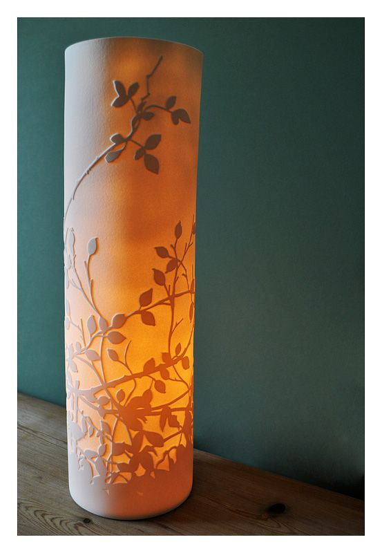 Amy Cooper Ceramics. Incredibly beautiful porcelain lamps, a source for inspiration!
