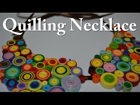 Paper Quilling Necklace -  For beginners - DIY Crafts Tutorials - Giulia...