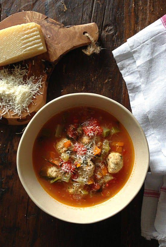 Mini Turkey Meatball Vegetable Soup | Skinnytaste