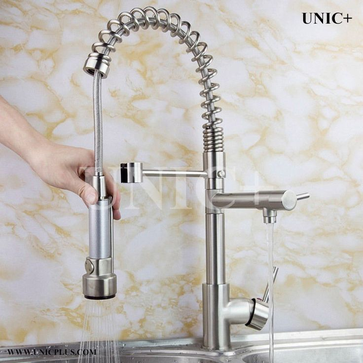 Pull Down Kitchen Faucet Brushed Nickel Faucet, Kitchen Spray Faucet, KPF005BN #UNIC #PullDown