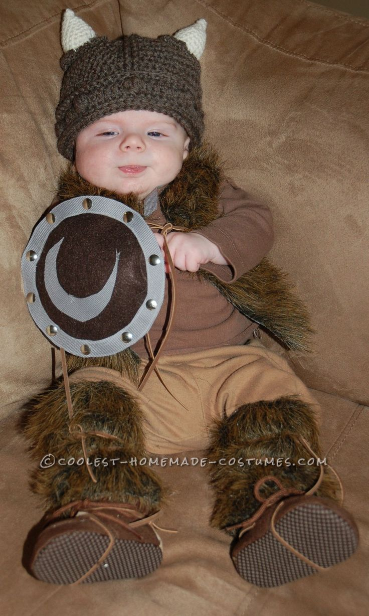 Pint-Sized Baby Pillager Viking Costume... This website is the Pinterest of costumes