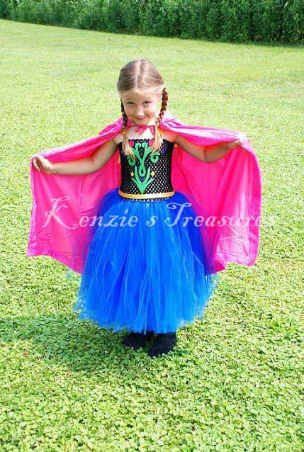 Anna Tutu Dress Set With Hooded Princess Cape  by Kenzies Treasures