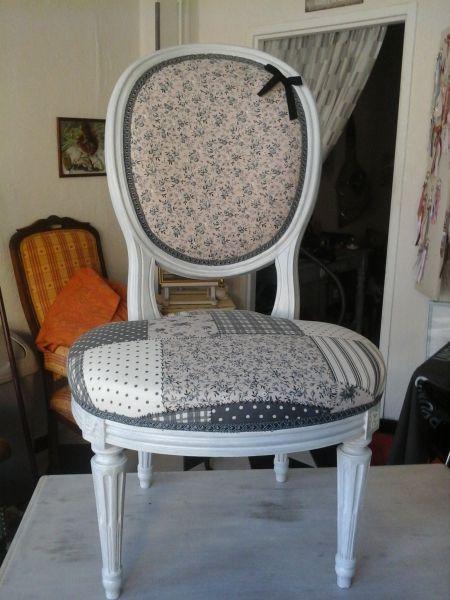 chaise m daillon refaite pinteres. Black Bedroom Furniture Sets. Home Design Ideas
