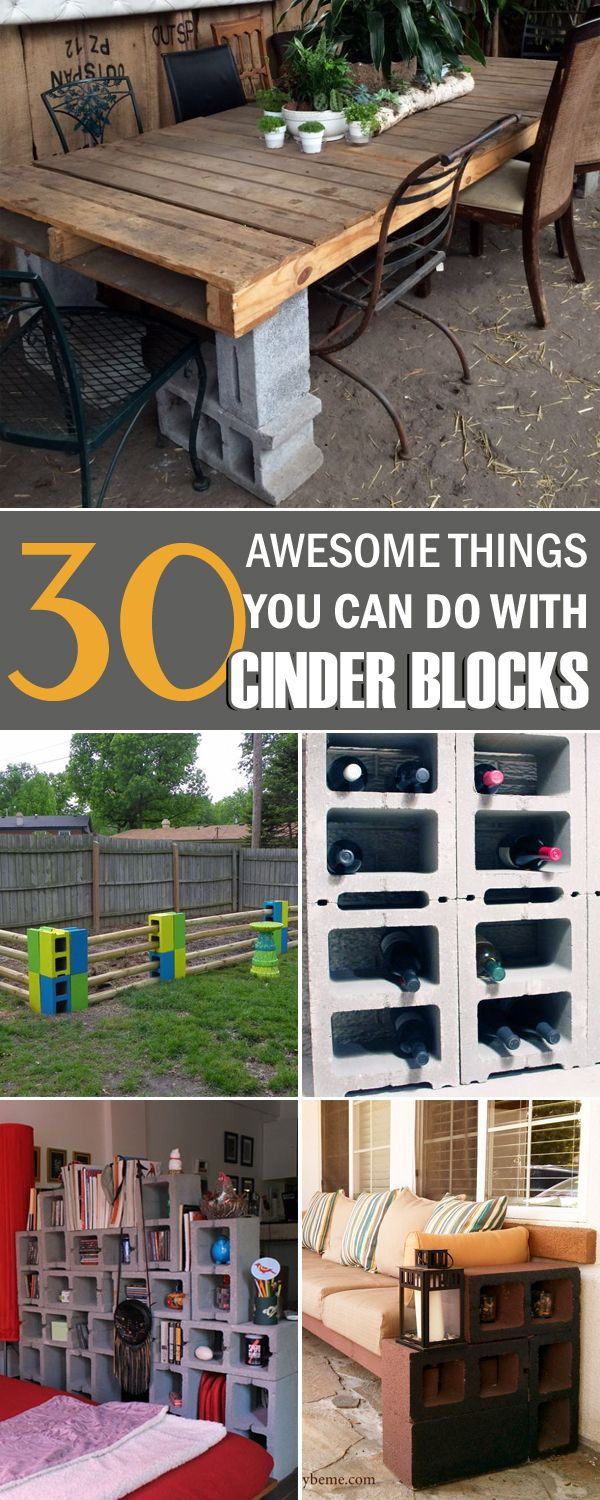Update your living space with these cool DIY cinder block projects.