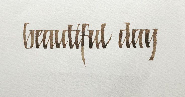 Calligraphy Handlettering Walnut ink