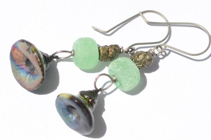 A personal favorite from my Etsy shop https://www.etsy.com/ca/listing/518910298/organic-green-sprout-earrings-sea-green