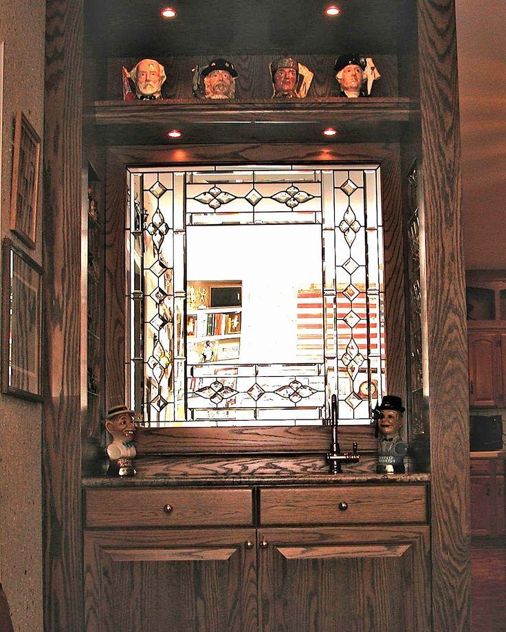 Lash Bar design.  #stainedglass #window #room #divider #traditional #artsy #mirror #pattern #beautiful #elegant #custom #homedecor #decor