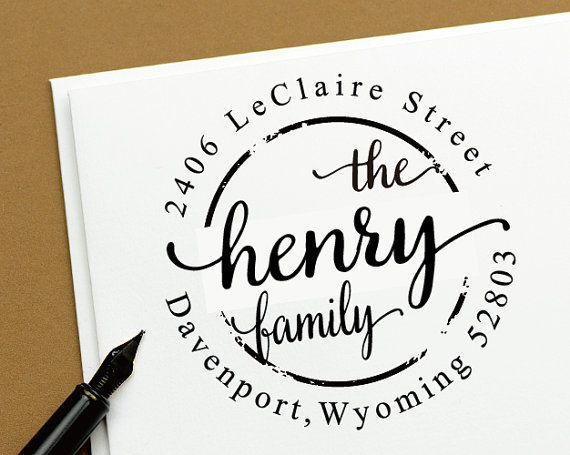 $18.99 at Etsy This is the right custom address stamp specially designed for you.  This is a high quality Self- inking ( Pre-Inked ) stamp and it could be easily