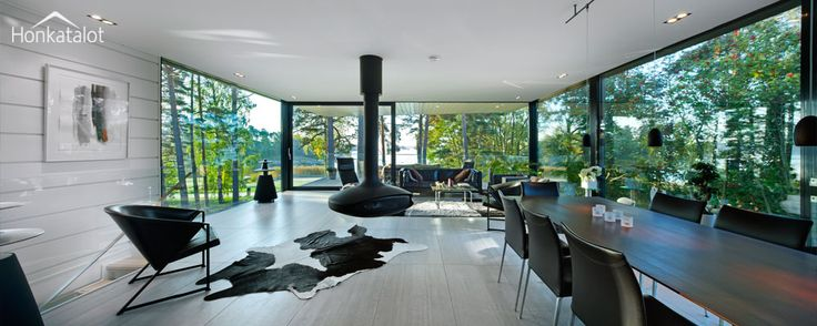 Moderni hirsitalo Evo | Modern log home | Honkatalot.fi