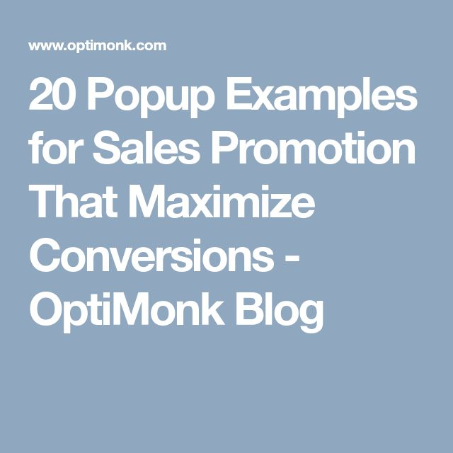 20 Popup Examples for Sales Promotion That Maximize Conversions - OptiMonk Blog