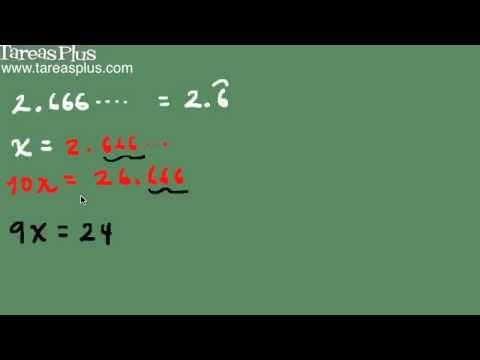 decimal periódico puro