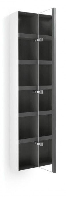 #Lineabeta #Ciacole #pensile con anta a #specchio 8054.17   #moderno #Legno   su #casaebagno.it a 530 Euro/pz   #accessori #bagno #complementi #oggettistica #design #gadget