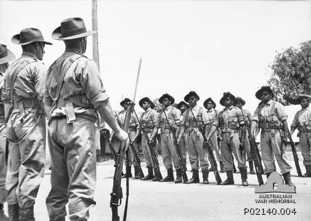 At Number 9 camp in Wangaratta, Australia, a special platoon was set up consisting of only aboriginal soldiers. Let by Major Joseph Albert (Bert) Wright, they were the only Aboriginal squad in the Australian Military Force. https://cas.awm.gov.au/item/P02140.004