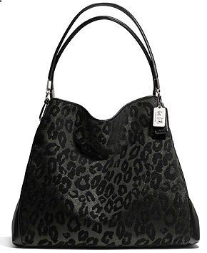 COACH MADISON SMALL PHOEBE SHOULDER BAG IN CHENILLE OCELOT - COACH - Handbags Accessories - Macys