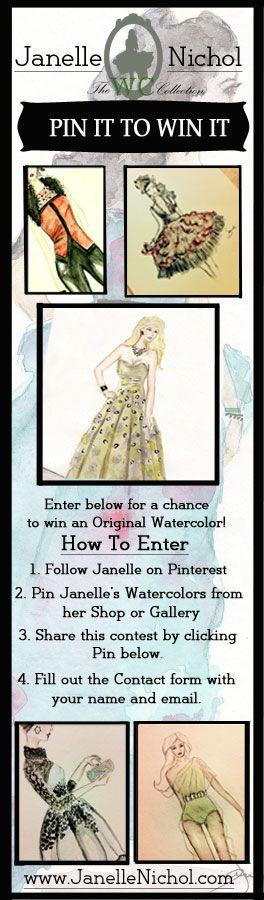 Win an Original 9×12 Watercolor Painting by Janelle Nichol www.JanelleNichol.com