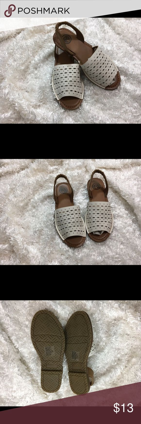 So Slingback Sandals Size 6.5 Brand new white sandals. Great for summer for a casual look. so  Shoes Sandals