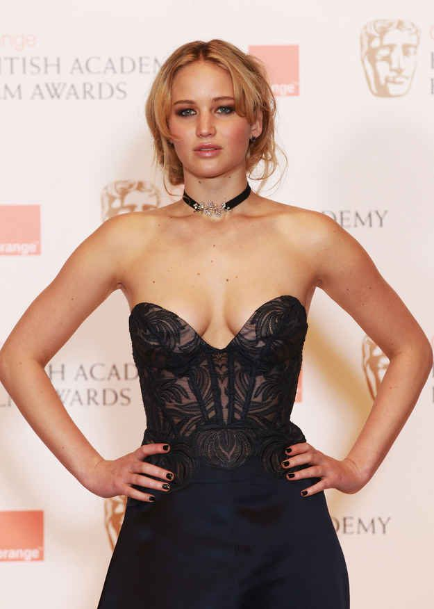 At the 2011 Orange British Academy Film Awards in London. | 24 Times Jennifer Lawrence Was Truly Flawless